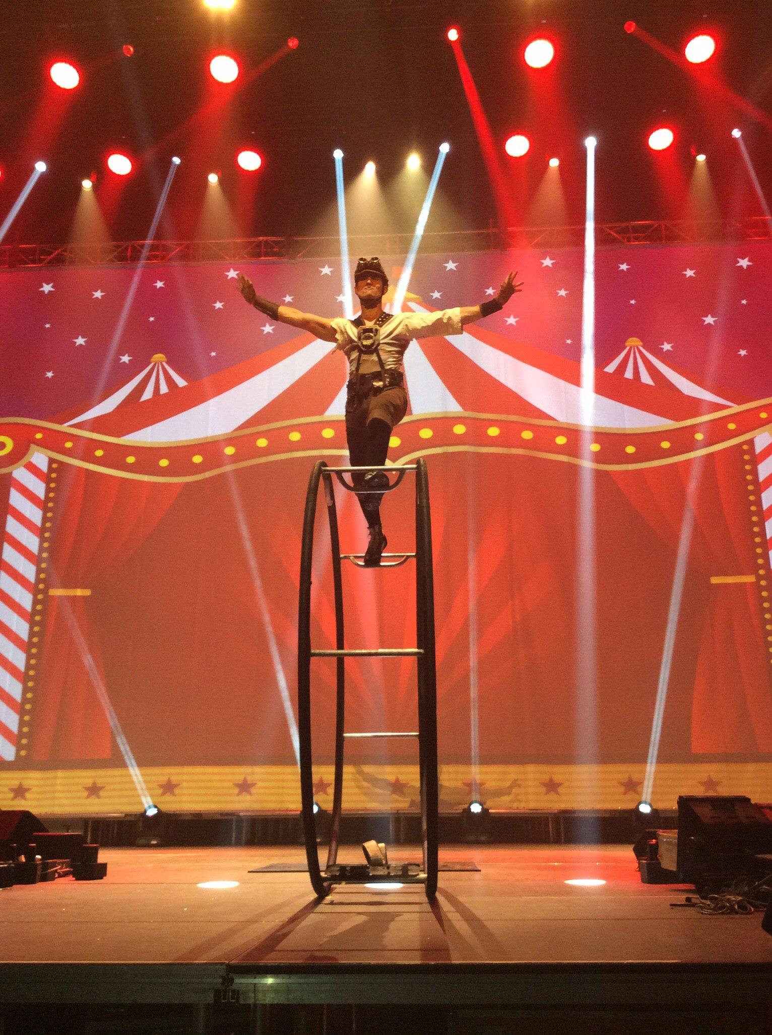 Популярный цирковой номер - Гимнаст на ренском колесе в Минске и по всей Беларуси.